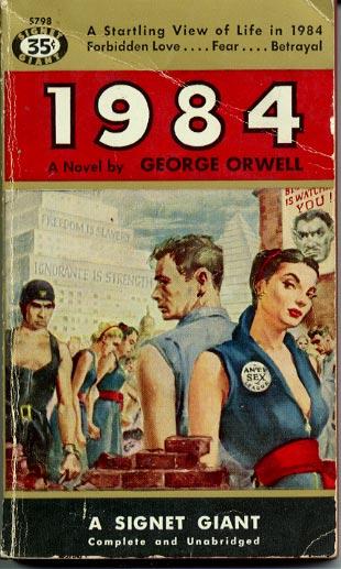 """Résultat de recherche d'images pour """"couverture 1949 1984 george orwell"""""""
