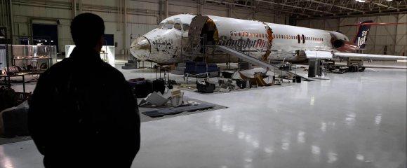 L'épave de l'avion renvoie bien entendu au personnage incarné par Denzel.