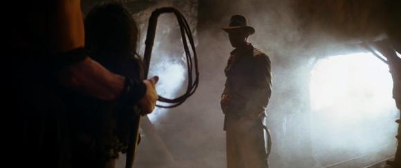 Spielberg n'oublie pas d'alimenter le mythe de l'aventurier.